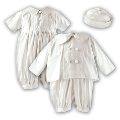 Sarah Louise 00215 215 Silk Christening Romper Hat And Jacket