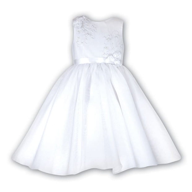 Sarah Louise 070019 White Flower Girl Special Occasion Dress - Christening Dress