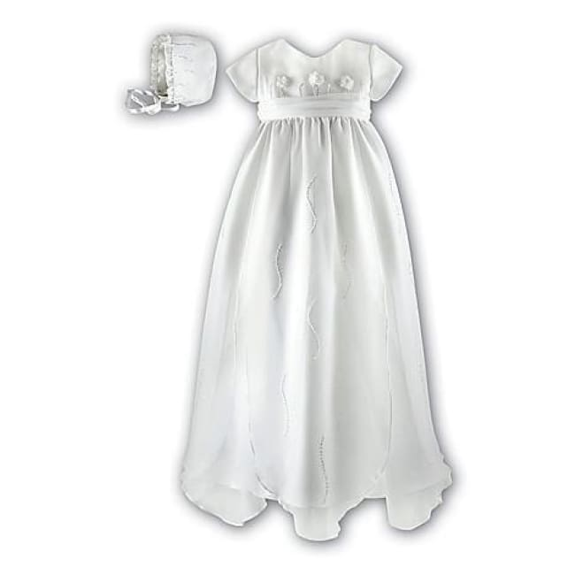 Sarah Louise 137 Christening Gown With Bonnet - Christening Gown