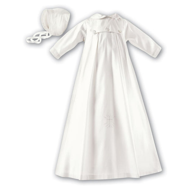 Sarah Louise 177 Silk Christening Robe Long Sleeved - Unisex Gowns