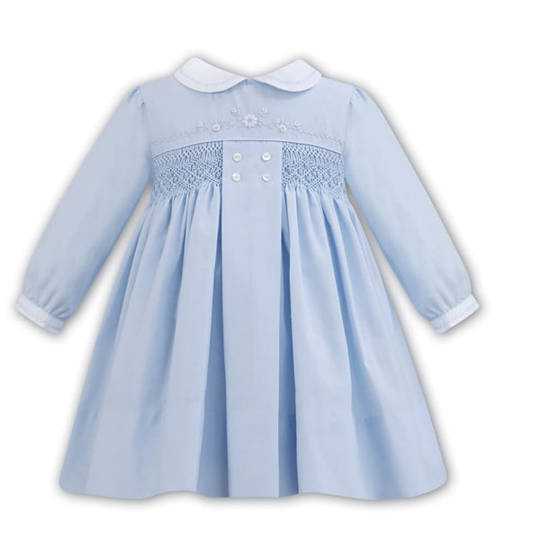 Sarah Louise Aw18 Blue & White Dress 011277 - Dress