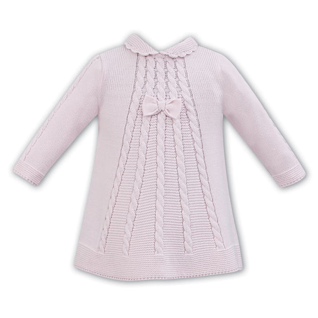 Sarah Louise Aw18 Pink Knit Woolen Dress 008056 - Dress