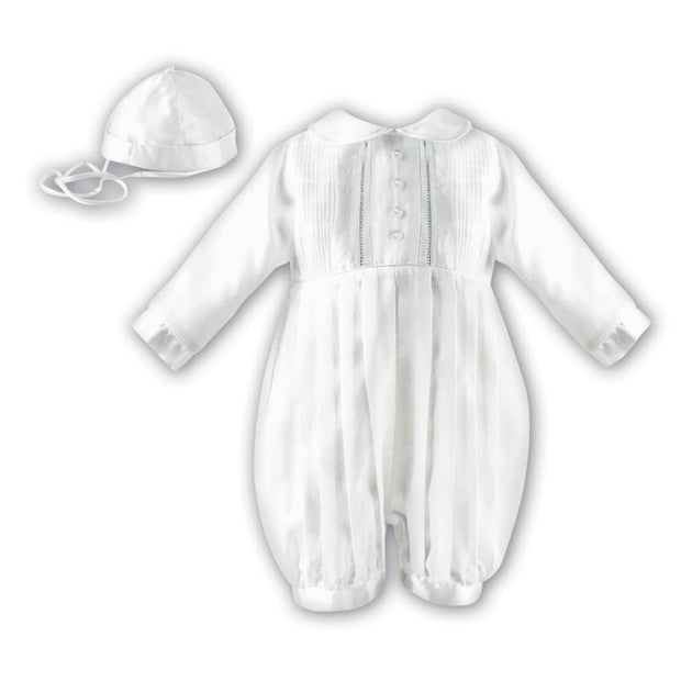 Sarah Louise Boys Christening Romper 232 Long Sleeved - Christening Rompers