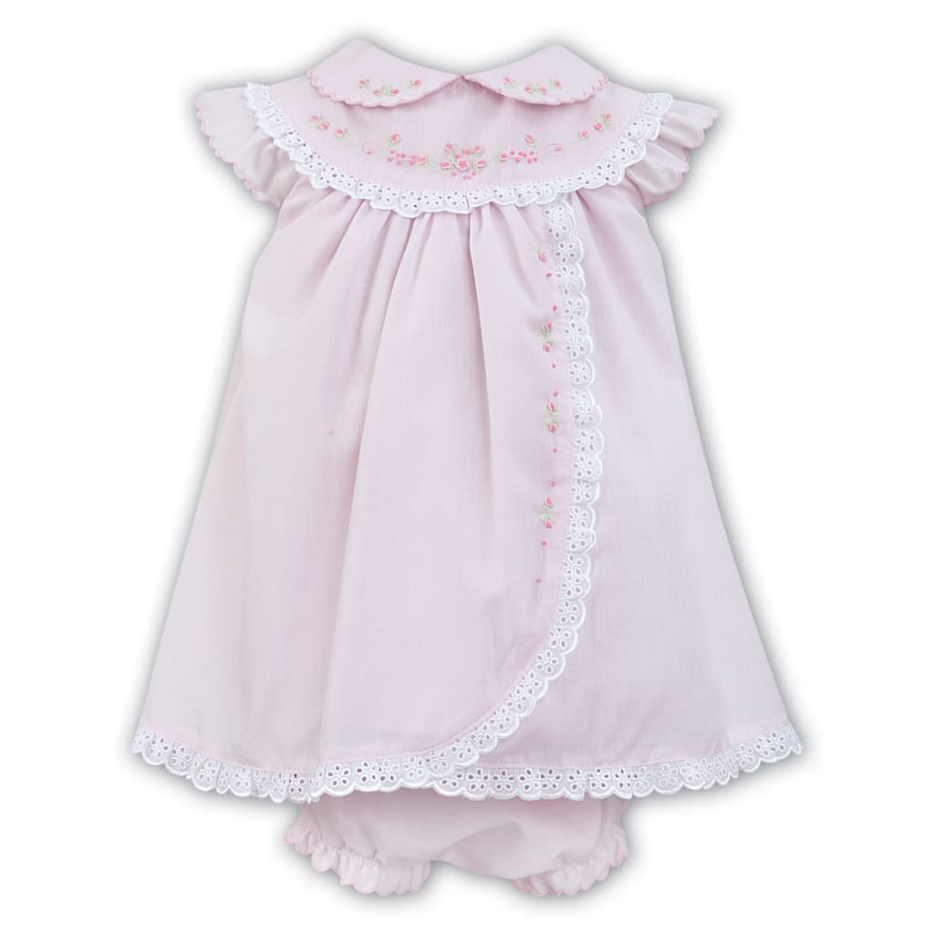 72869462e8f4 Sarah Louise Pink / White Baby Dress & Knickers 011457 – Just Kidding  Children's Boutique