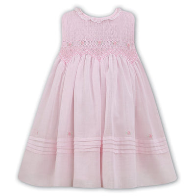 Sarah Louise Pink/White Voile Dress 011490 - Dresses