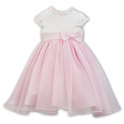 Sarah Louise Special Occasion Dress 070091 Ivory/pink - Dress