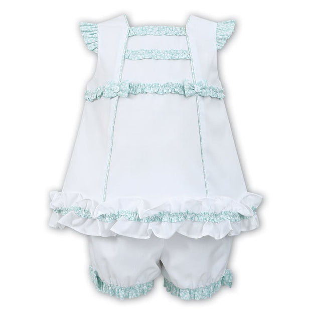 Sarah Louise White / Mint Dress & Knickers Set 011552 - Dresses
