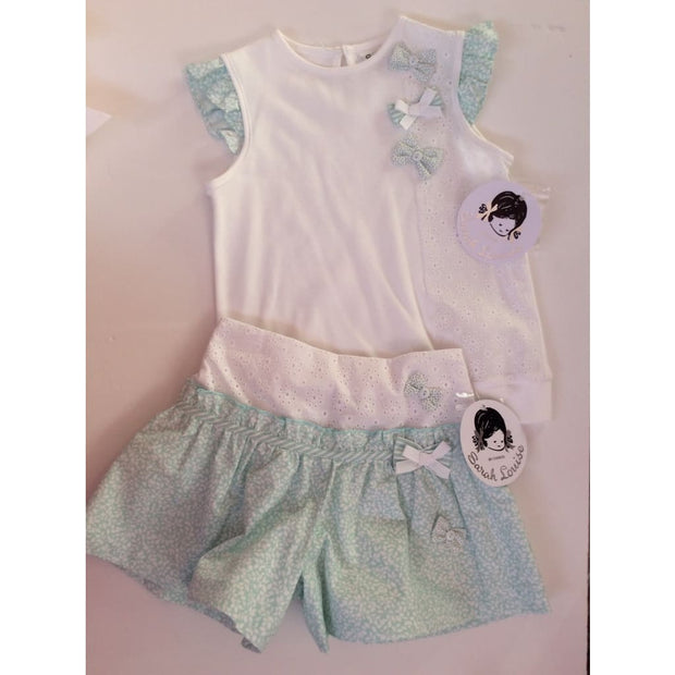 Sarah Louise White / Mint Skort Set 011563 011560 - Playsuits