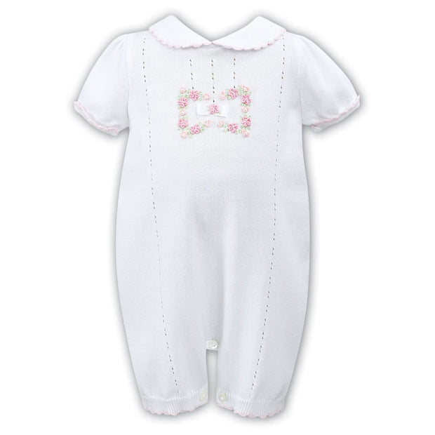 Sarah Louise White / Pink All In One 008072 - Babysuits
