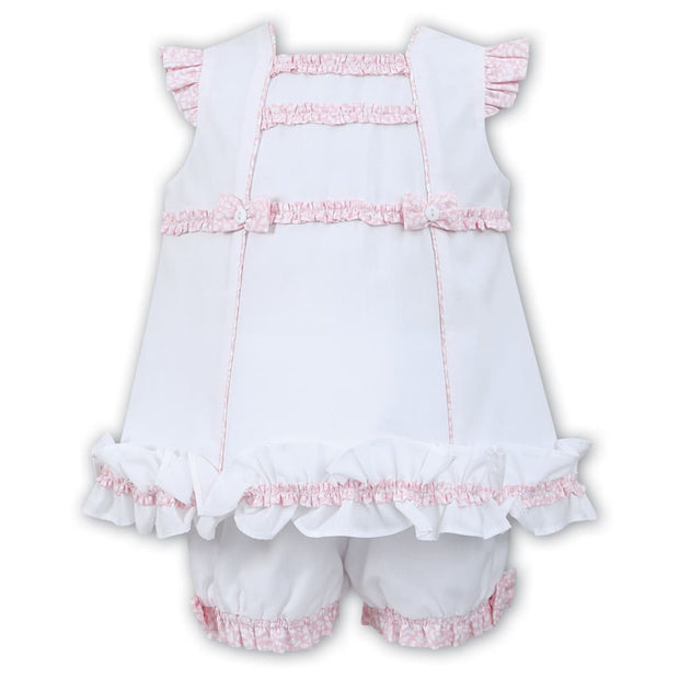 Sarah Louise White / Pink Dress & Knickers Set 011552 - Dresses