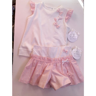 Sarah Louise White / Pink Skort Set 011563 011560 - Playsuits