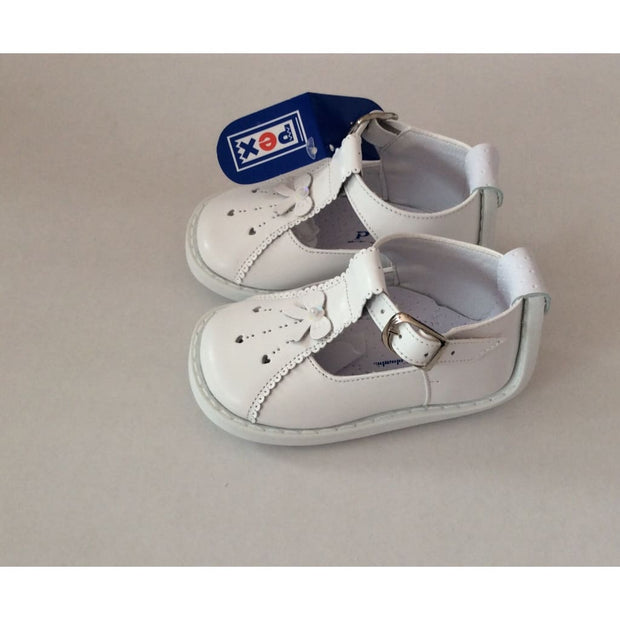 White Pex T Bar Shoes - Shoes