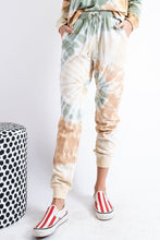 Load image into Gallery viewer, Olive Rust Tie-Dye Sweat Pants