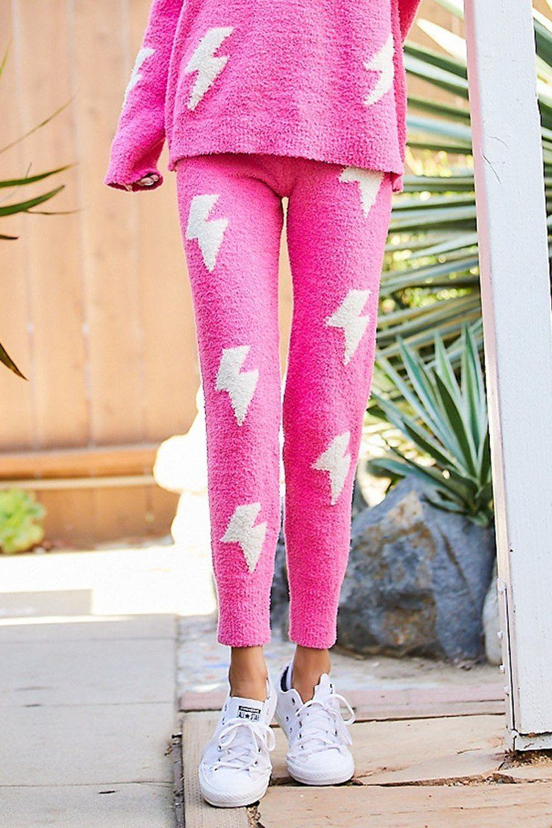 Pink Cozy Thunder Pants