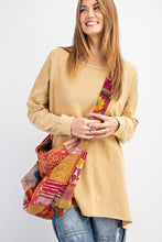 Load image into Gallery viewer, Mustard Side Slits Pullover Tunic