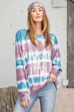 Load image into Gallery viewer, Lavender Sky Ombre Tie-Dye Pullover