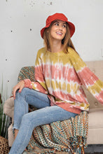 Load image into Gallery viewer, Mustard Rose Ombre Tie-Dye Pullover