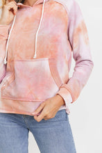 Load image into Gallery viewer, Sherbet Tie-Dyed Hoodie Top