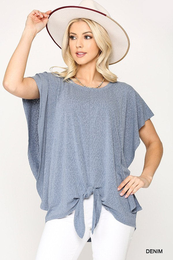 Baby Blue Knit Jersey Top