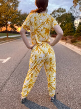 Load image into Gallery viewer, Yellow Tie-Dye Top And Pants Set
