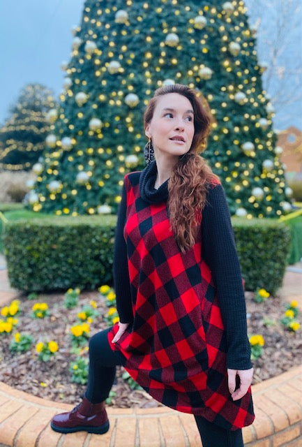 Red Buffalo Plaid Swing Dress