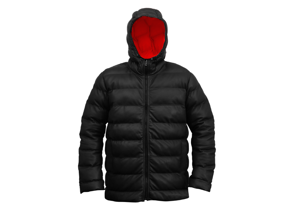 The Snowman - Leather Puffer Jacket