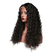 Load image into Gallery viewer, Black Curly Lace Front 100% Human Virgin hair