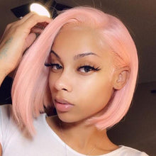 Load image into Gallery viewer, Natural Short Pink BOB Wig For Women