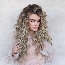 Load image into Gallery viewer, Long Curly Blonde Wig Glueless Daily Wear