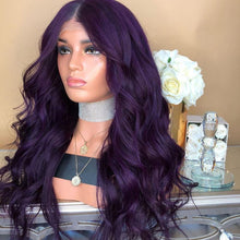 Load image into Gallery viewer, Purple Glamorous Natural Long Wig