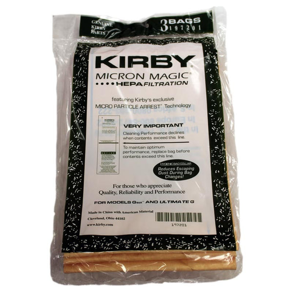 Kirby G6 And Ultimate G Hepa Bags, Genuine Kirby - 3 Pack