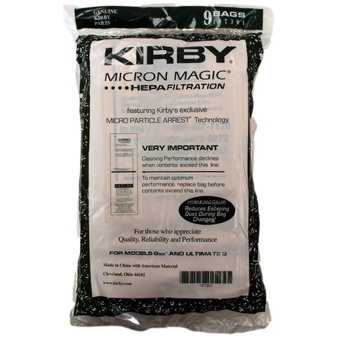 Kirby Gsix (G6) Ultimate G 9-Pack-Genuine Kirby Vacuum Bags