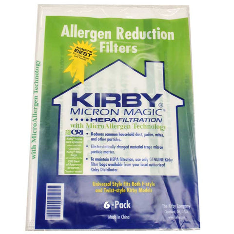 Kirby Genuine Allergen Cloth Universal Fits F Series Sentria And All Generation Models - 6 Pack 204811G