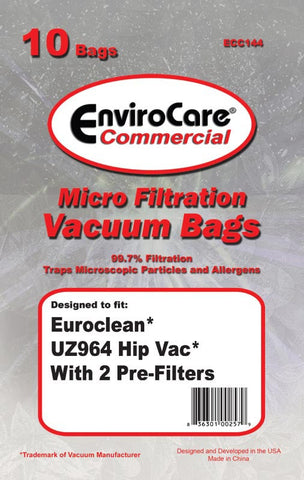 Advance Paper Bag, Euroclean Uz964 Hipvac 10pk W/2 Filters, ECC144 - MonsterVacuum.com