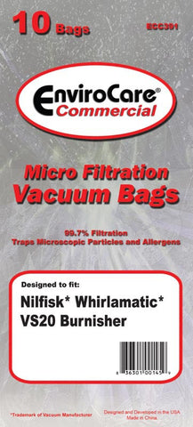 Advance Paper Bag, Nilfisk Vs 20 Burnisher Env 10pk, ECC391 - MonsterVacuum.com