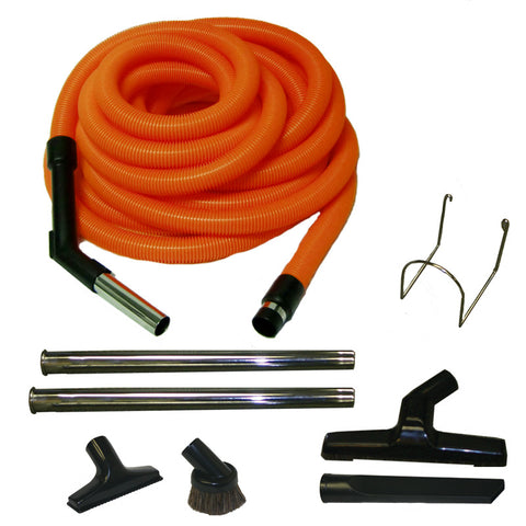 Built-In Kit, Garage 50' Orange Hose 8pc Tools Wands Hanger, 06-4923-04