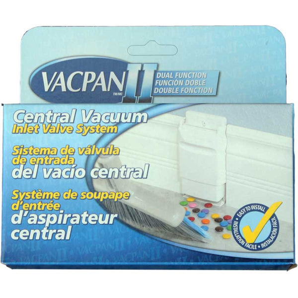 Built-In Vacpan Ii, Baseboard Mount White, VCPW02-BM