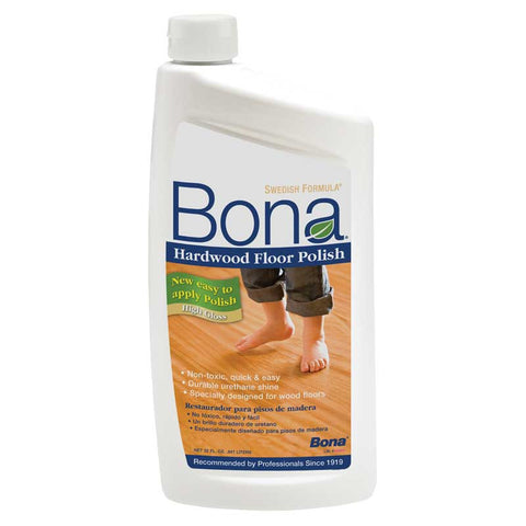 Bona Polish, Hardwood Floor High Gloss 32 Oz  8/case, WP510051002