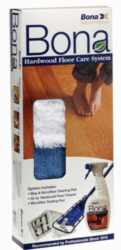 Bona Kit, Hardwood Floor Care Mop Cleaning Pads 32oz Cl, WM710013358