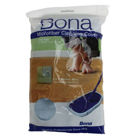 "Bona Pad, Microfibre Cleaning Floorwipes 2pk 8"" X 15"", WM710013337 WM710013337"
