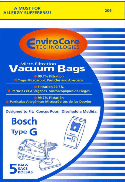 Bosch Paper Bag, Bosch Type G  Canister Micro Env 5 Pk, 206