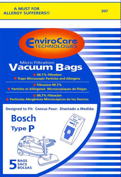 Bosch Paper Bag, Bosch Type P  Canister Micro Env 5 Pk, 207