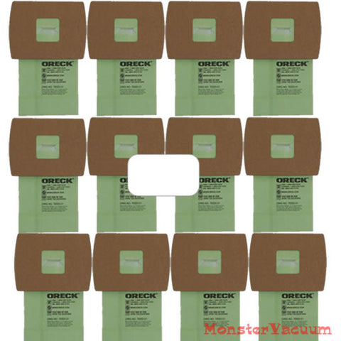 12-Pack Genuine Oreck Housekeeper BB Buster B Vacuum Bags Bonus Filter - PKBB12DW - MonsterVacuum.com