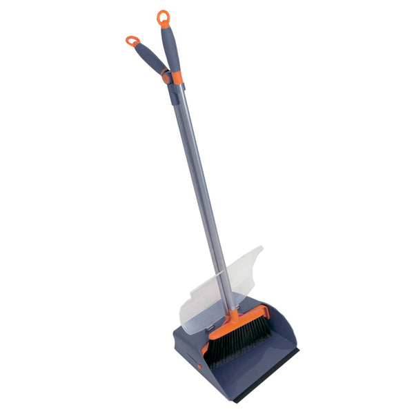 Casabella Sweep Set, Upright With Cover Graphite/orange, 20755