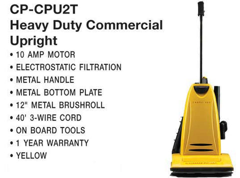Carpet Pro Vac, Upright Vacuum 10A 40' 3-Wire Cord, CPU2T
