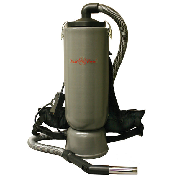 "Dust Care Vac, Backpack 10qt 1 1/2"" Tools Aluminum Gray Hepa, 14423227"