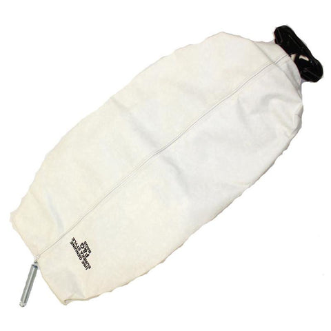 Eureka Cloth Bag, Zipper W/2    Hole Cplg Frost White, 54133-4