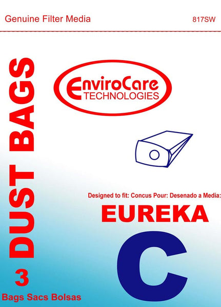 Eureka Paper Bag, Eur Style C   Mighty Mite Env 3pk, 817SW
