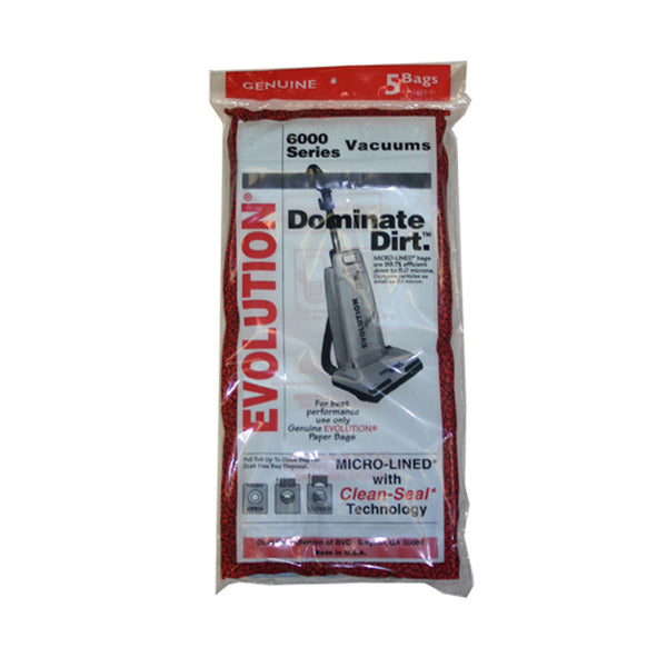 Evolution Paper Bag, Evolution 6000 Upright 5pk, E845