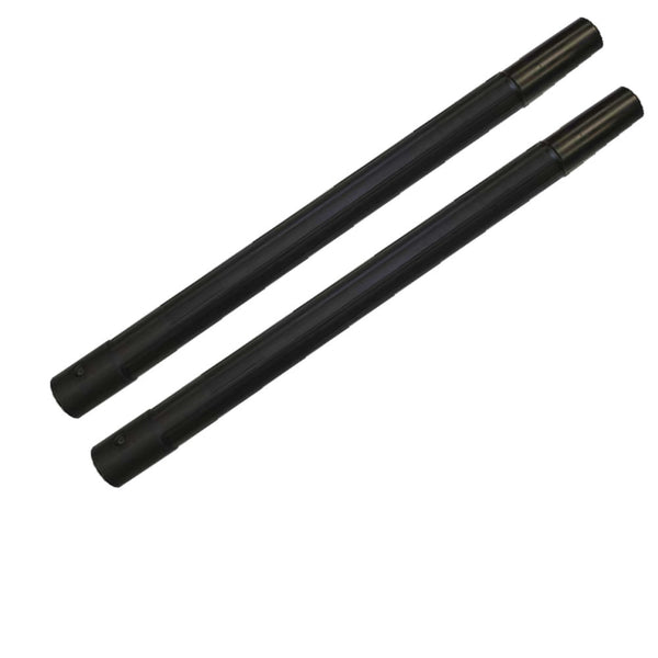 "TWO - 19"" Vacuum Cleaner Wand, Straight Plastic Friction Lock Black - fits 1-1/4"" vacuum hoses"